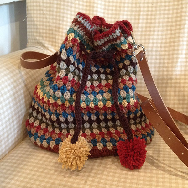 Crochet Communion Bag Pattern : Granny Striped crochet bag ? Hooked by Design